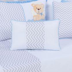 Almofada Retangular Urso Anjinho Azul