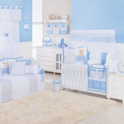 Quarto de Bebê Urso Anjinho Azul
