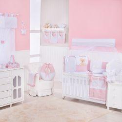 Quarto de Bebê Urso Anjinho Rosé