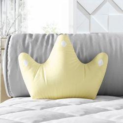 Almofada Coroa Ursinho Clássico Palha 22cm