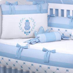 Kit Berço Ursinho Clássico Azul Bebê