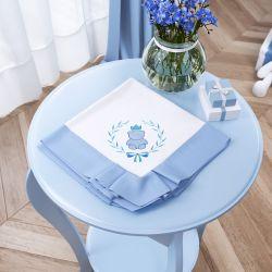 Manta Ursinho Clássico Azul Bebê