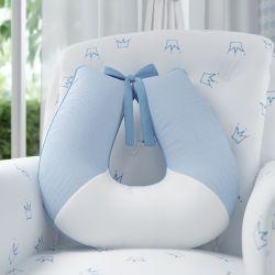 Almofada Amamentação Ursinho Clássico Azul Bebê