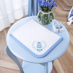 Cueiro Ursinho Clássico Azul Bebê