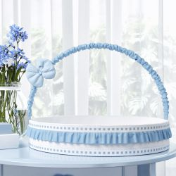 Cesta Ursinho Clássico Azul Bebê