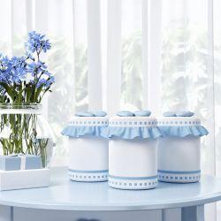 Jogo de Potes Ursinho Clássico Azul Bebê