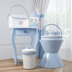 Kit Higiene Ursinho Clássico Azul Bebê