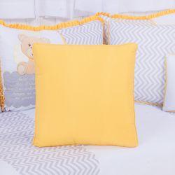 Almofada Quadrada Urso Anjinho Amarelo