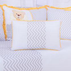 Almofada Retangular Urso Anjinho Amarelo