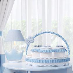 Kit Acessórios Ursinho Clássico Azul Bebê