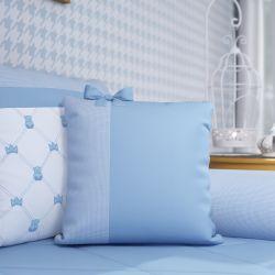Almofada Laço Ursinho Clássico Azul Bebê