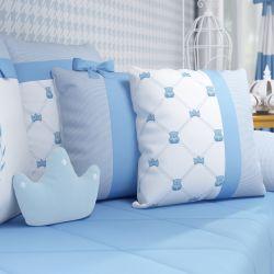 Almofadas Ursinho Clássico Azul 3 Peças