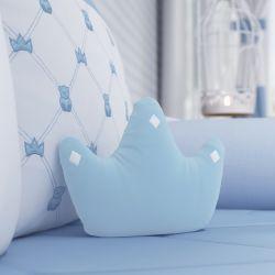 Almofada Coroa Ursinho Clássico Azul Bebê