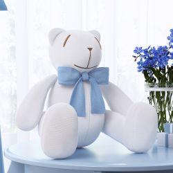 Urso Laço Azul Bebê 34cm