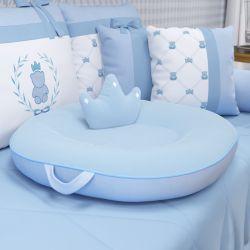 Almofada Multiuso Ursinho Clássico Azul Bebê