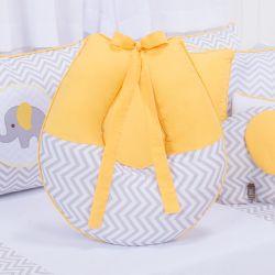 Almofada Amamentação Elefante Chevron Amarelo