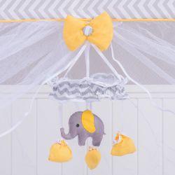 Móbile Elefante Chevron Amarelo