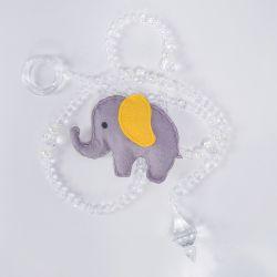 Pêndulos Elefante Chevron Amarelo