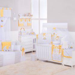 Quarto de Bebê Elefante Chevron Amarelo