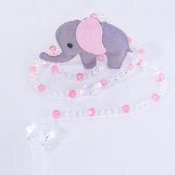 Pêndulos Elefante Chevron Rosa