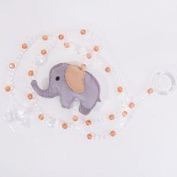 Pêndulos Elefante Chevron Cáqui