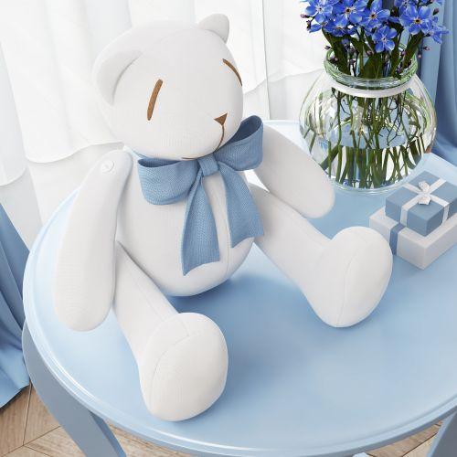 Urso Ursinho Clássico Azul Bebê 25cm
