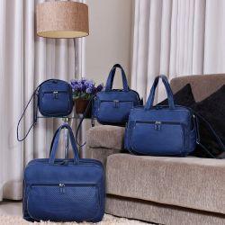 Conjunto de Bolsas Maternidade Paraty Azul Marinho