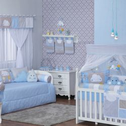 Quarto de Bebê Nuvem Estrela Azul