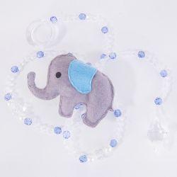 Pêndulos Elefante Chevron Azul