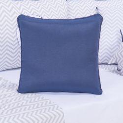 Almofada Quadrada Elefante Azul Marinho