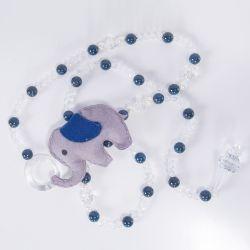 Pêndulos Elefante Chevron Azul Marinho