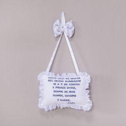 Porta Maternidade Oração Elefante Chevron Azul Marinho