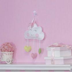 Porta Maternidade Nuvem Coração Rosa
