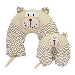 Almofadas Amamentação e Pescoço Para Bebê Macaco 2 Peças