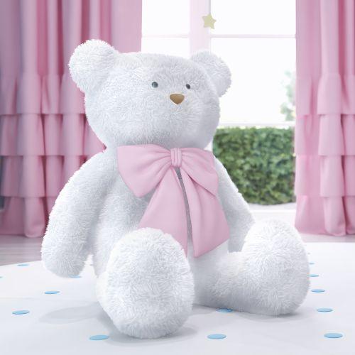 Ursa Gigante com Laço Rosa 1m