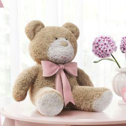 Ursa Laço Rosa 46cm