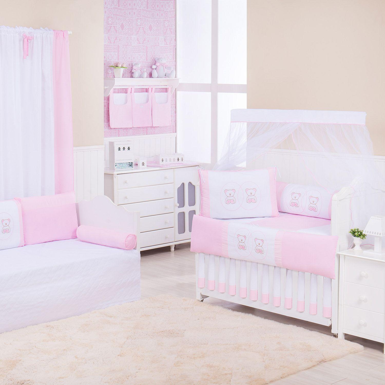 Quarto de Bebê Ponto Ajour Ursinha Rosa