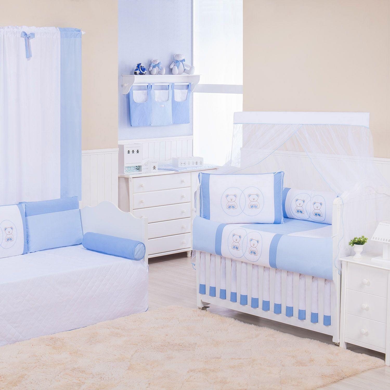 Quarto de Bebê Ponto Ajour Ursinho Azul