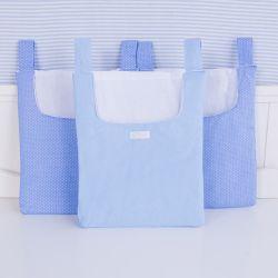 Porta Fraldas Anjinho Azul