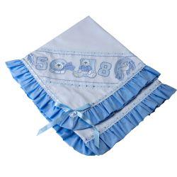 Manta Piquet Baby Ursinhos Azul