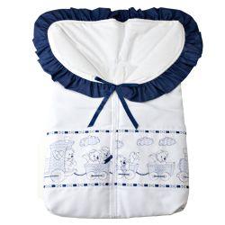 Porta Bebê Ursinhos no Trenzinho Azul Marinho