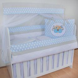 Kit Berço Dog Baby Azul