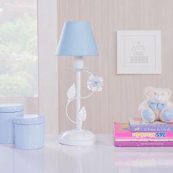 Abajur Floral Curvado Azul