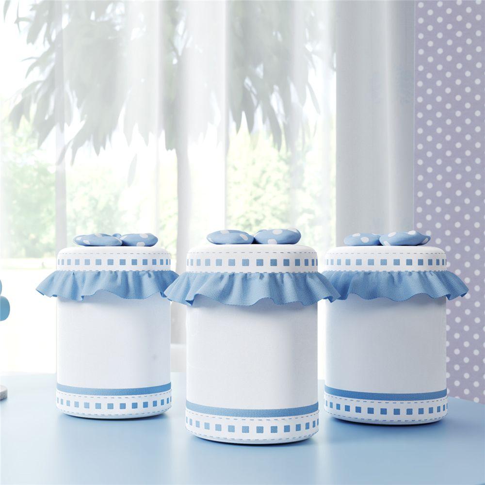 Jogo de Potes Bebe Menino Azul Amiguinhos Grão de Gente