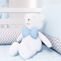 Urso Clássico com Gravata Azul 42cm