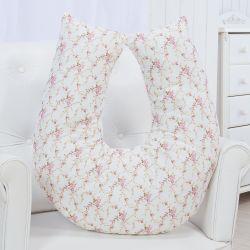 Almofada Amamentação Floral Glamour Rosa