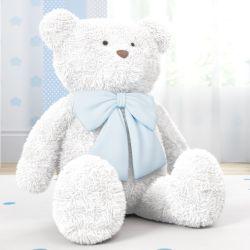 Urso Gigante com Laço Azul 1m