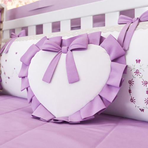 Almofada Coração Alice Lilás