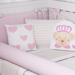 Kit Berço Ursa Princesa Rosa