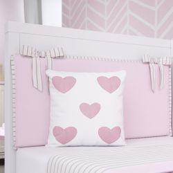 Almofada Corações Rosa 26cm